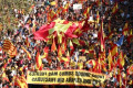 Catalonia divided: Barcelona hosts unionist rally a day after separatist march