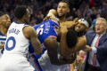 Simmons headlocks rival in insane NBA fight