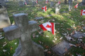 Dozens of Canadian flags stolen from soldiers' graves in Windsor
