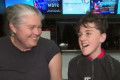 Boy with cerebral palsy flies in Melbourne first