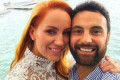 Jules Robinson and Cameron Merchant tie the knot