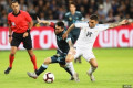 Lionel Messi dribbles past FIVE players despite falling to the floor in Argentina's dramatic draw with Uruguay in Israel