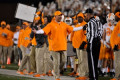 Vols' Pruitt grabs player's jersey, scolds him after penalty