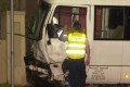 Minibus allegedly stolen by three youths crashes into parked cars