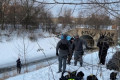 Body found encased in ice in Burlington creek