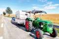 Marne: A German tourist spotted by the gendarmes while pulling his caravan with his tractor