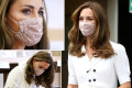 Duchess Kate Wears a Floral Face Mask for the 1st Time While Attending Event