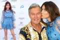 Blanca Blanco, 39, kisses beau of 12 years John Savage, 71
