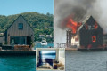Luxurious $1,450-a-night floating villa in Sydney goes up in flames