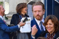 Damian Lewis plays guitar with wife Helen McCrory at friends' wedding