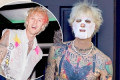 Machine Gun Kelly pampers himself with facial mask at LA home