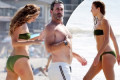 Jon Hamm, 49, and girlfriend Anna Osceola, 32, showcase their fit form