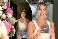Ferne McCann receives bouquet of flowers from a secret admirer